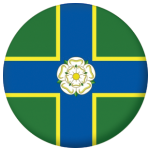 Yorkshire North Riding County Flag 58mm Mirror Keyring